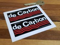 De Carbon Suspension Oblong Stickers - 3.5