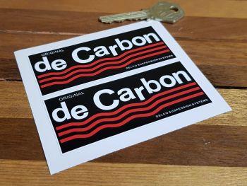 """De Carbon Suspension Oblong Stickers - 3.5"""" or 10"""" Pair"""