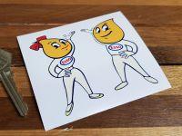 Esso Oil Drip Boy  & Girl Stickers - 3