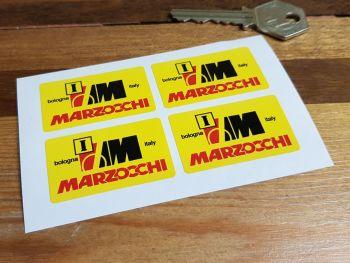 """Marzocchi Bologna Italy 'I' Stickers. Set of 4. 1.5""""."""
