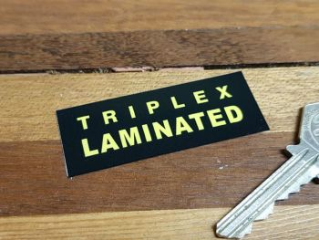 Triplex Laminated Windscreen Black Double Sided Glass Window Sticker 2.5""