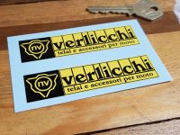 "Verlicchi Race Parts Ducati Racing Stickers - 3.5"" or 6"" Pair"