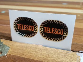 Telesco Shock Absorber Oval Foil Style Stickers - 35mm  Pair