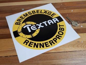 "Textar Circular Sticker - 8.5"" or 9.75"""