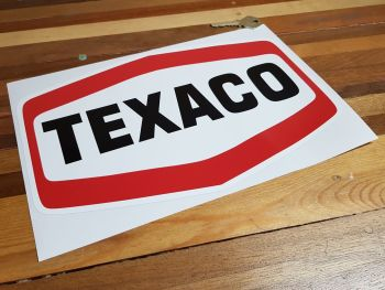 "Texaco Plain Text Logo Sticker - 12"" or 14"""