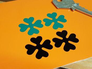 "OSSA  Four-leaf Clover Cut Vinyl Stickers - 1"" Pair"