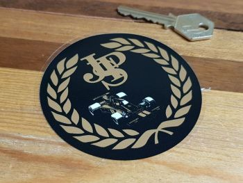 JPS Garland & Car Circular Window Sticker 3.5""