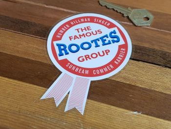 Rootes Group Rosette Window Sticker 4.5""
