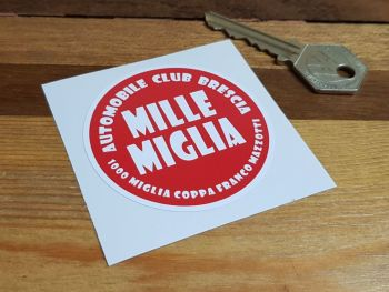 Mille Miglia Automobile Club Brescia Sticker 60mm