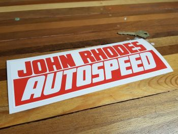 John Rhodes Autospeed Sticker 9""