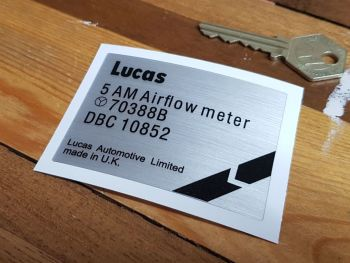 Lucas 5 AM Airflow Meter 70388B Jaguar XJS etc Sticker 3""
