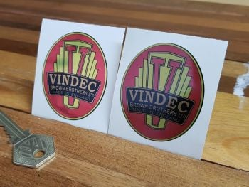 Vindec Bicycle Headstock Style 2 Sticker 2.25""