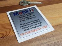 Mobil One Oil Change Sticker 993.006.544.00 2.75