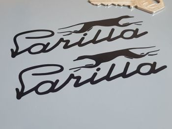 "Moto Parilla Cut Vinyl Handed Logo Stickers 4.25"" Pair"