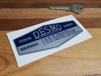 Desmo Petrol Can Warning Label 4""