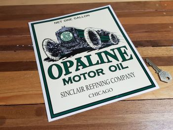 Opaline Motor Oil Sticker 9.25""