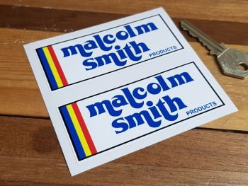 "Malcolm Smith Products Oblong Stickers 4"" Pair"