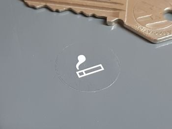 Cigarette Lighter White & Clear Sticker 22mm