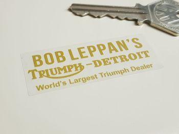 "Bob Leppan's Detroit Motorcycle Dealer Sticker 2.25"""