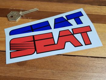 "Seat Text Stickers 6"" Pair"