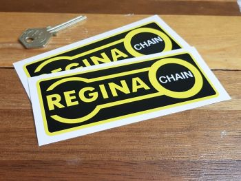"Regina Chain Oblong Stickers - Yellow Border - 3.5"" or 5"" Pair"