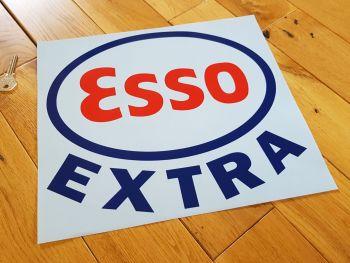 "Esso Extra Cut Vinyl Globe Sticker 12"""