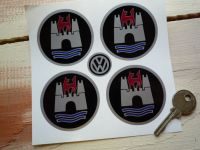 VW Volkswagen Wolfsburg Stickers - Set of 4 - Varous Sizes