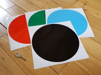 "Racing Roundel Plain Circle - Various Colours - 8"" or 10"""