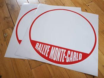 Monte-Carlo Rallye Door Panel Stickers 500mm Pair