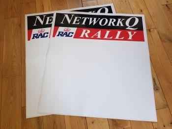 """Network Q RAC Rally Door Panel Stickers 21.5"""" Pair"""