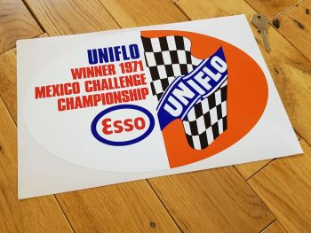 Esso UniFlo 1971 Mexico Challenge Sticker 12""