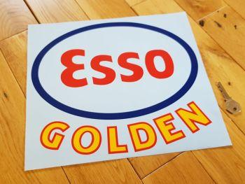 """Esso Golden Cut Vinyl Globe Sticker 12"""""""