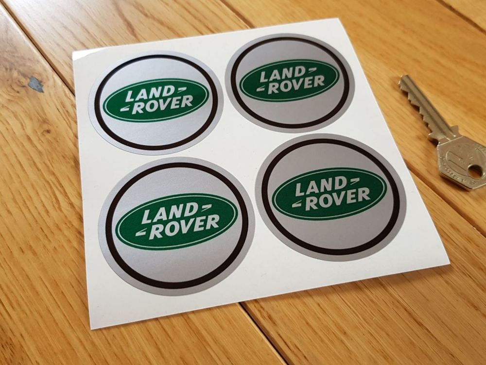 Land Rover Green Oval Wheel Centre Stickers - Set of 4 - 50mm or 60mm