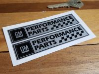 "GM Performance Parts General Motors Oblong Stickers - 4"" or 6"" Pair"