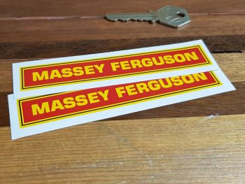 "Massey Ferguson Oblong Stickers - 5"", 9"", or 11"" Pair"
