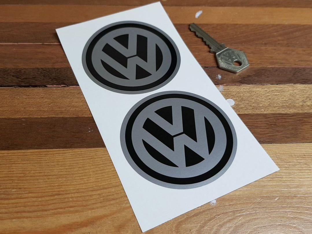VW Volkswagen Circular Logo Stickers. 3