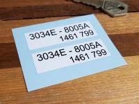 "Ford Radiator Stickers 2.25"" Pair"
