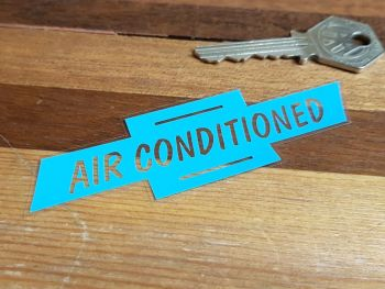 Chevrolet Air Conditioned Window Sticker 4""