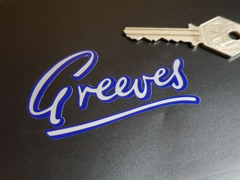 Greeves Cut Text Sticker 3""