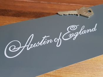 "Austin of England Script Style Sticker 6"""