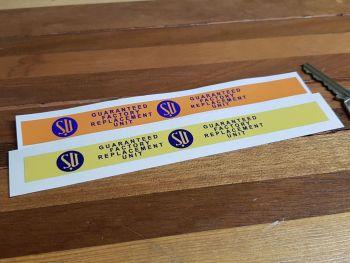 "SU Carburettors Guaranteed Factory Replacement Unit Sticker 7"""