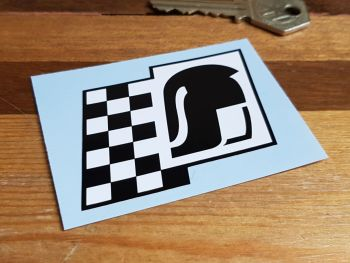 Römer Chequered Style Helmet Sticker 70mm