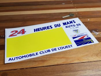 24 Heures Du Mans LeMans 1988 Car Plain Yellow Style Sticker - 12""