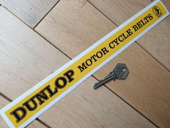 Dunlop Motor Cycle Belts Shelf Edge Sticker 12""