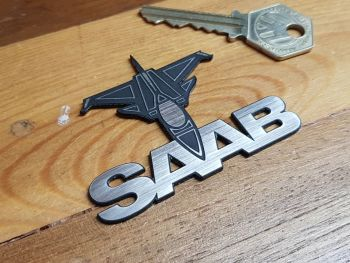 Saab Aero Shaped Self Adhesive Car Badge 2.75""