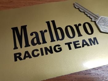 Marlboro Racing Team Cut Text Sticker 4""