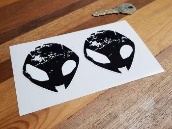 """BMW Alien Head Stickers 2.75"""" Pair"""