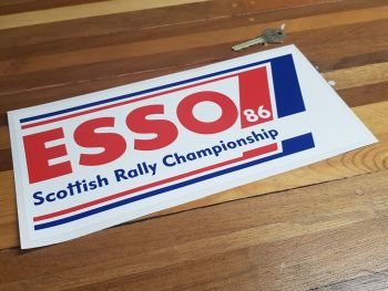 "Esso Scottish Rally Championship 86 Sticker 11"""