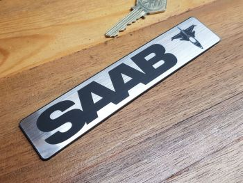 Saab Aero Oblong Self Adhesive Car Badge 6""