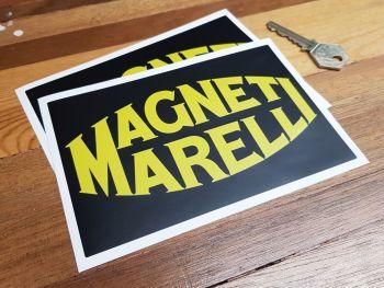 """Magneti Marelli Black & Yellow Matt Finish Stickers 6"""" Pair"""
